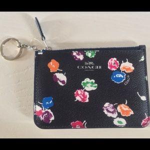 Coach Wildflower Key Pouch & Coin Purse Key Chain